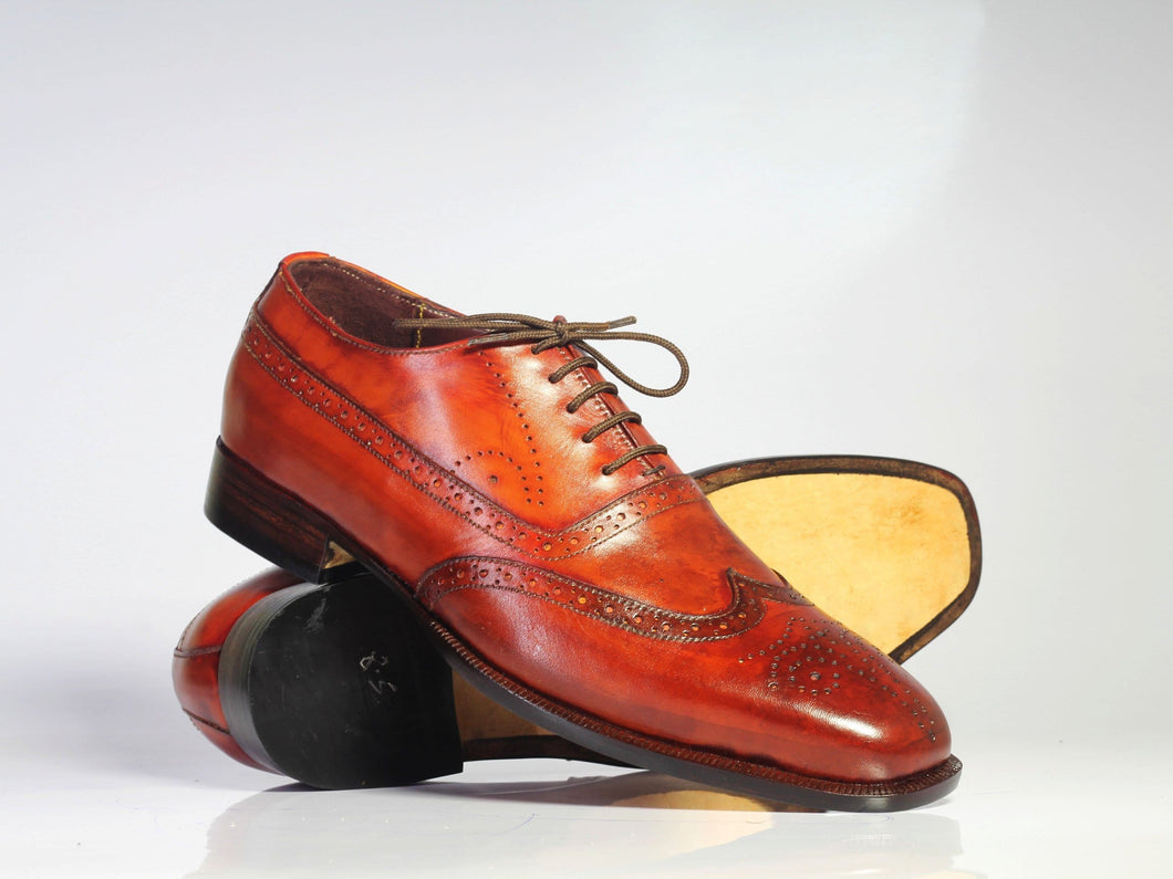 leather404 Clothing, Shoes & Accessories:Men's Shoes:Dress Shoes Handmade Brown Wing Tip Brogue Leather Men's Shoes