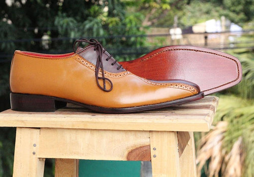leather404 Clothing, Shoes & Accessories:Men's Shoes:Dress Shoes Tan Brown Formal Dress Lace Up Shoes For Men's