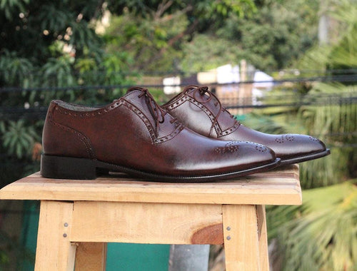 leather404 Clothing, Shoes & Accessories:Men's Shoes:Dress Shoes Men's Brown Leather shoes