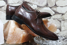 leather404 Clothing, Shoes & Accessories:Men's Shoes:Dress Shoes Brown Brogue Lace Up Leather shoes
