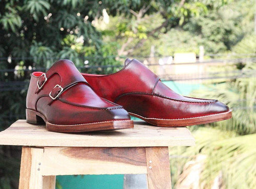 leather404 Clothing, Shoes & Accessories:Men's Shoes:Dress Shoes Double monk shoes Mens