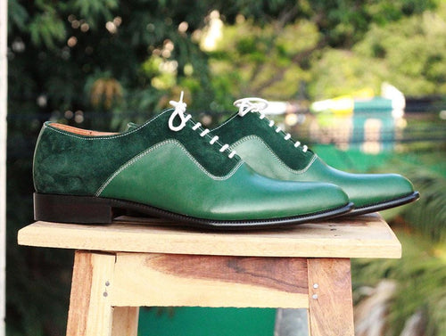 leather404 Clothing, Shoes & Accessories:Men's Shoes:Dress Shoes Mens Green Oxford Shoes