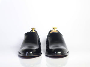 leather404 Clothing, Shoes & Accessories:Men's Shoes:Dress Shoes Black Half Chelsea leather shoes for Men