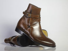 leather404 Clothing, Shoes & Accessories:Men's Shoes:Boots Brown Ankle High Leather Jodhpurs Boot For Men's