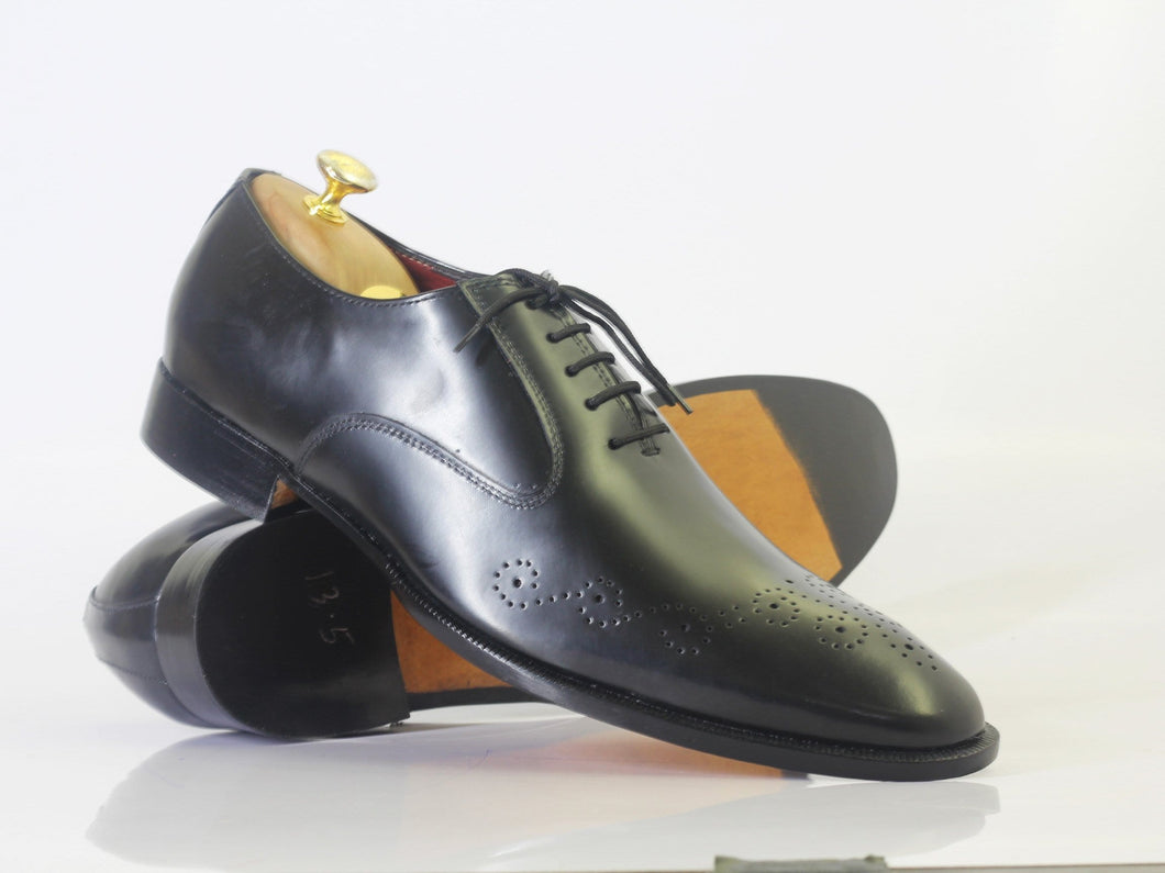leather404 Clothing, Shoes & Accessories:Men's Shoes:Dress Shoes Handmade Black Brogue Toe Men's Lace Up Leather Shoes