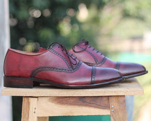 leather404 Clothing, Shoes & Accessories:Men's Shoes:Dress Shoes Burgundy Oxfords Dress Shoes