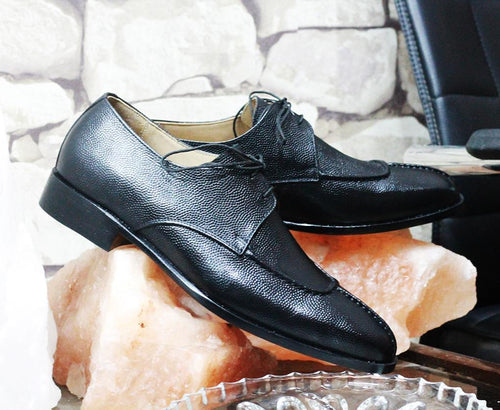 leather404 Clothing, Shoes & Accessories:Men's Shoes:Dress Shoes Black Split Toe Men Leather Shoes