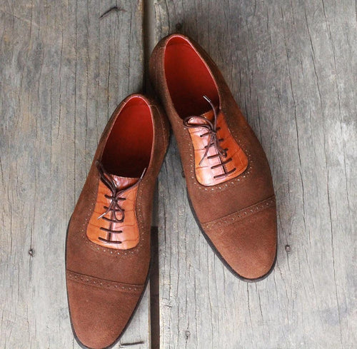 leather404 Clothing, Shoes & Accessories:Men's Shoes:Dress Shoes Alligator Skin Suede Brown tussle Shoes