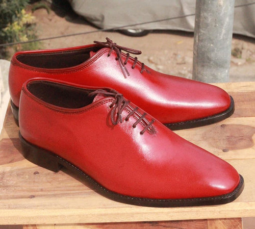 leather404 Clothing, Shoes & Accessories:Men's Shoes:Dress Shoes Burgundy Whole Cut Lace Up Shoes