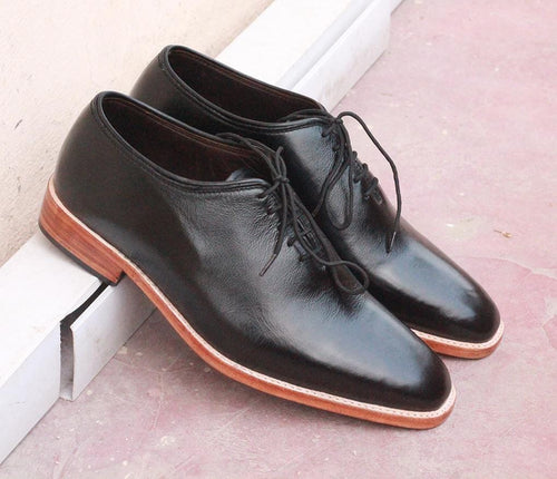 leather404 Clothing, Shoes & Accessories:Men's Shoes:Dress Shoes Black Whole cut leather shoes for Men