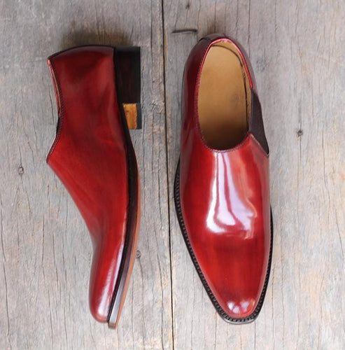 leather404 Clothing, Shoes & Accessories:Men's Shoes:Dress Shoes Burgundy Whole Cut Leather Shoes