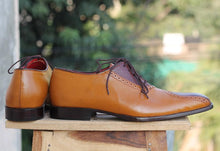 leather404 Clothing, Shoes & Accessories:Men's Shoes:Dress Shoes Handmade Two Tone Brown Leather Shoes For Men