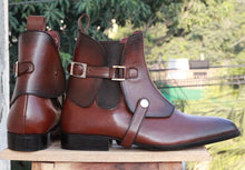 leather404 Clothing, Shoes & Accessories:Men's Shoes:Boots Brown Chelsea Leather boots For Men