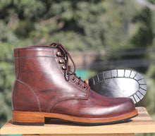 leather404 Clothing, Shoes & Accessories:Men's Shoes:Boots Men Hand Panted Brown Leather Boot