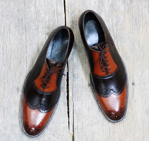 leather404 Clothing, Shoes & Accessories:Men's Shoes:Dress Shoes Tan Brown Oxfords Dress Shoes