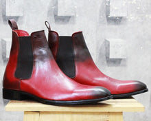 leather404 Clothing, Shoes & Accessories:Men's Shoes:Boots Copy of 2 Tone Chelsea Leather Boot