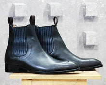 leather404 Clothing, Shoes & Accessories:Men's Shoes:Boots Black Chelsea Leather Boot
