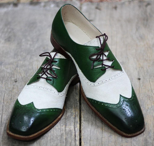 leather404 Clothing, Shoes & Accessories:Men's Shoes:Dress Shoes Handmade Wing tip Leather Green Shoes