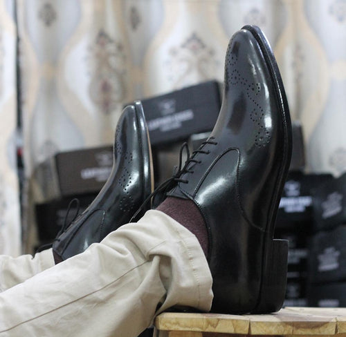 leather404 Clothing, Shoes & Accessories:Men's Shoes:Dress Shoes Black Leather Brogue Shoes for Men's