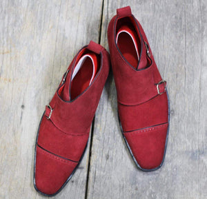 maroon Shoes monk shoes maroon color dress Shoes Shoes dress Suede Shoes Men Shoes Ankle Shoes monk Shoes men's suede Shoes Shoes shoes Slip on formal Shoes fashion Shoes Men fashions Designer Shoes designing  Shoes Men's Dress Shoes Handmade  leather Shoes Men Ankle Shoes