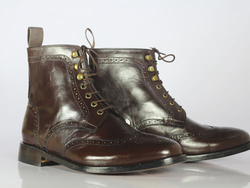leather404 Clothing, Shoes & Accessories:Men's Shoes:Boots Brown Leather Ankle Boots, Men Bespoke Leather Boots