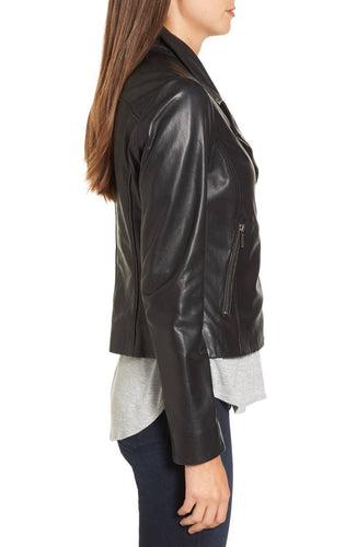 leather404 Clothing, Shoes & Accessories:women's Clothing:Coats & Jackets Leather Jacket Women Black Slim Fit Biker Lambskin Leather Jacket