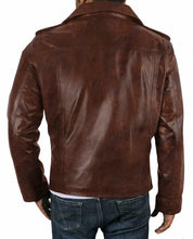 leather404 Clothing, Shoes & Accessories:Men's Clothing:Coats & Jackets Brown Tan Waxed Genuine Lambskin Leather Jacket