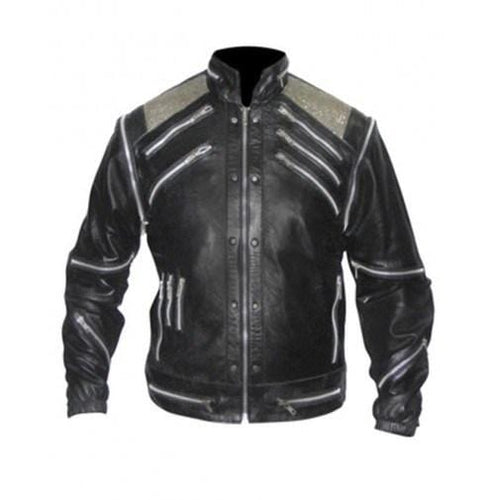 leather404 Clothing, Shoes & Accessories:Men's Clothing:Coats & Jackets Leather Madness Michael Jackson Beat It Black Genuine Leather Jacket