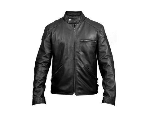leather404 Clothing, Shoes & Accessories:Men's Clothing:Coats & Jackets s Long Sleeve Leather Jacket, men's Jacket real leather Stylish black Leather Jacket