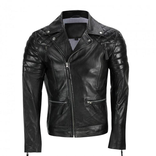 leather404 Clothing, Shoes & Accessories:Men's Clothing:Coats & Jackets s Men's Black Sheep Leather Vintage Style Biker Fashion Casual Leather Jacket