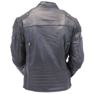 leather404 Clothing, Shoes & Accessories:Men's Clothing:Coats & Jackets Mens Retro Cafe Racer Biker Vintage Leather Jackets