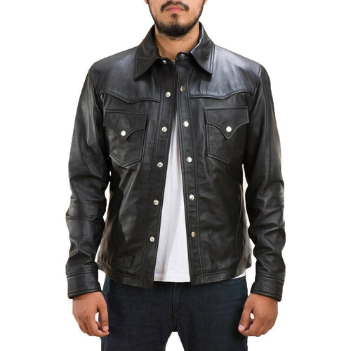 leather404 Clothing, Shoes & Accessories:Men's Clothing:Coats & Jackets Men's Cafe racer leather jacket