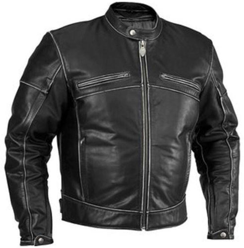 leather404 Clothing, Shoes & Accessories:Men's Clothing:Coats & Jackets s Men's Biker Leather Jacket Distressed Black Leather Jacket