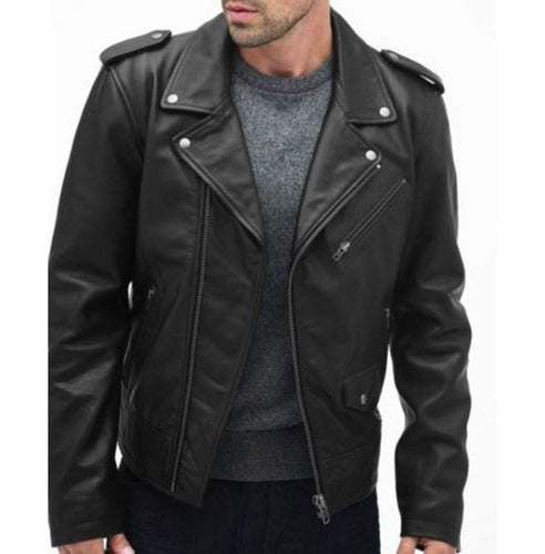 leather404 Clothing, Shoes & Accessories:Men's Clothing:Coats & Jackets s Handmade Men's Black Color Biker Leather Stylish Jacket