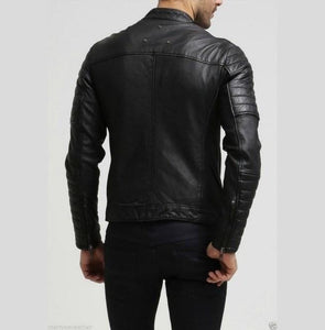 leather404 Clothing, Shoes & Accessories:Men's Clothing:Coats & Jackets Men's Fashion Black Leather Motorcycle Leather Jacket Biker Jacket