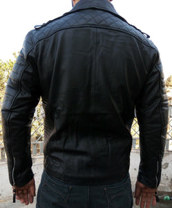leather404 Clothing, Shoes & Accessories:Men's Clothing:Coats & Jackets Men's Leather Jacket Original Leather Classic Black Fashion Leather Jacket