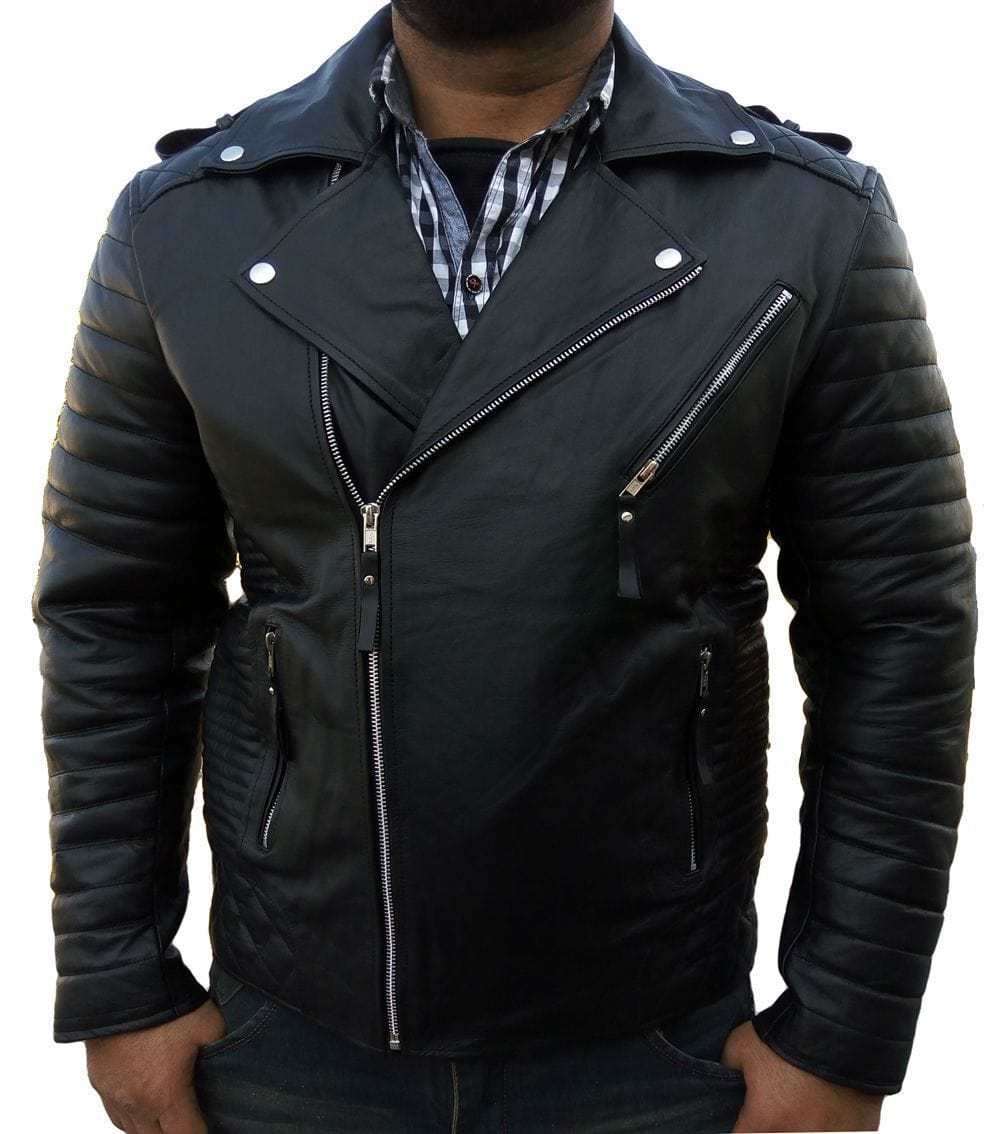 leather404 Clothing, Shoes & Accessories:Men's Clothing:Coats & Jackets s Men's Leather Jacket Original Leather Classic Black Fashion Leather Jacket