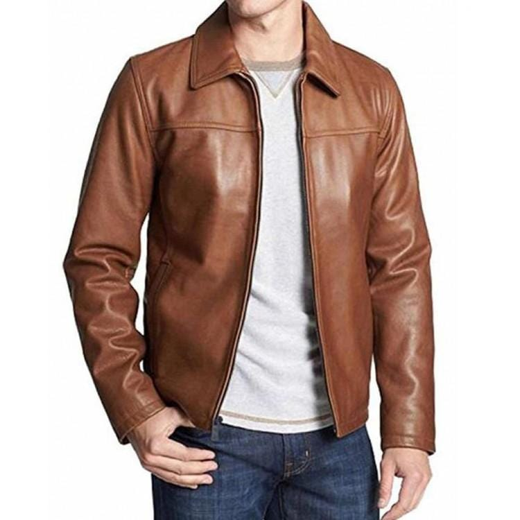 leather404 Clothing, Shoes & Accessories:Men's Clothing:Coats & Jackets Handmade Men's Shirt Color Leather Jacket For Men's
