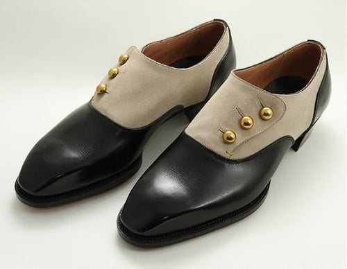 leather404 Clothing, Shoes & Accessories:Men's Shoes:Dress Shoes usa-7 Men's Leather Suede Button Casual Black Beige Derby Shoes