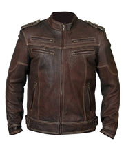 leather404 Clothing, Shoes & Accessories:Men's Clothing:Coats & Jackets s Mens Biker Vintage Motorcycle Distressed Brown Cafe Racer Leather Stylish Jacket