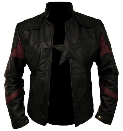 leather404 Clothing, Shoes & Accessories:Men's Clothing:Coats & Jackets s Men's Captain America Avengers Infinity War Chris Evans Black Leather Jackets