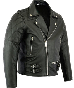 leather404 Clothing, Shoes & Accessories:Men's Clothing:Coats & Jackets s Mens Classic Leather Brando Jacket Biker Motorbike Motorcycle Vintage