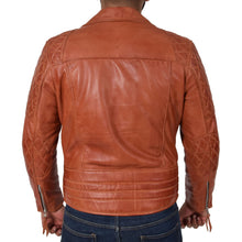 leather404 Clothing, Shoes & Accessories:Men's Clothing:Coats & Jackets Men's Cross Zip Biker Leather Jacket Tan Fashion Casual Outwear Jacket