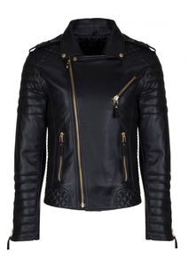 leather404 Clothing, Shoes & Accessories:Men's Clothing:Coats & Jackets s Mens Fashion Real Leather lambskin Leather Biker Style Motorcycle Black Jacket