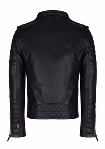 leather404 Clothing, Shoes & Accessories:Men's Clothing:Coats & Jackets Mens Fashion Real Leather lambskin Leather Biker Style Motorcycle Black Jacket