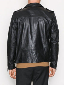leather404 Clothing, Shoes & Accessories:Men's Clothing:Coats & Jackets Mens Genuine Lambskin Black Leather Jacket Motorcycle New Slim Fit Biker Jacket