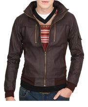 leather404 Clothing, Shoes & Accessories:Men's Clothing:Coats & Jackets s Mens Slim Leather Jacket, Brown Biker Leather Jacket, Zipper Pocket Jacket