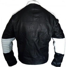 leather404 Clothing, Shoes & Accessories:Men's Clothing:Coats & Jackets Men's Handmade Black White Super Man Style Biker Leather Jacket
