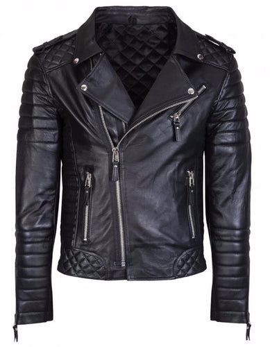 leather404 Clothing, Shoes & Accessories:Men's Clothing:Coats & Jackets Men's Genuine Lambskin Leather Jacket Black Slim fit Biker Motorcycle jackets