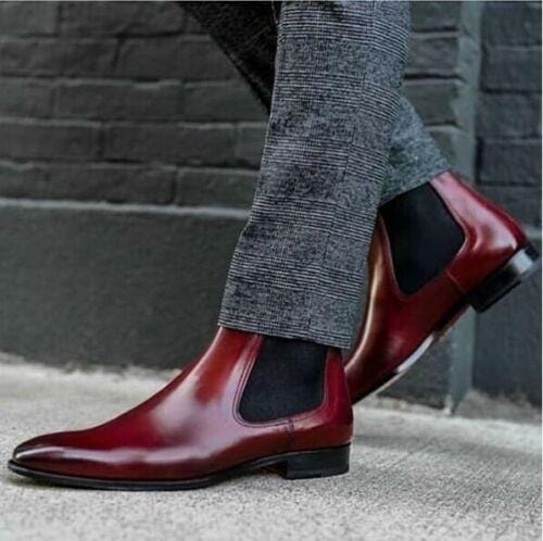 Men Chelsea boots ankle high Boots Two tone black brown dress boot boot dress Boots Men boots Black brown Ankle boots men's boot brown black leather boots boots shoes Chelsea oxfords Burgundy Chelsea Slip on Two tone Boots fashion Men fashions Designer Boots Men's Dress boot Chelsea leather boots